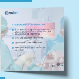 Réalisation d'une plaquette de présentation produit Medcam #brochure #plaquette #plaquetteproduits #graphicdesign #graphisme #graphic #design #medical #communication